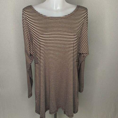 NEW • MASAI • Cream & Brown Stripe 'Blanca' Top • Size L • RRP £85