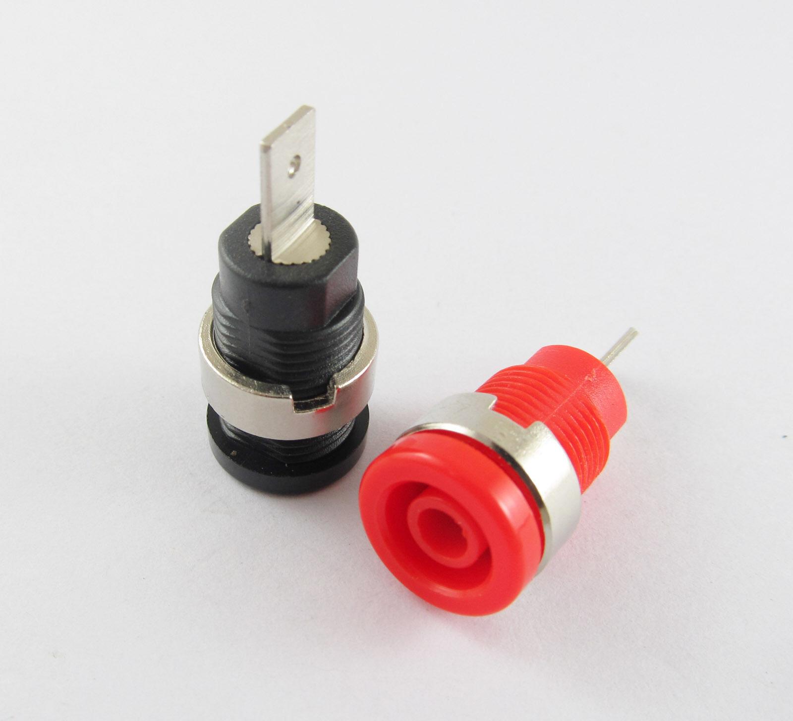10x Red Multimeter Instrument 2mm Binding Post Banana Panel Mount Test Probe New
