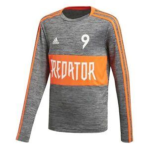 ADIDAS Junior Predator Training Calcio Manica Lunga Top DV1333 RRP £ 26.00