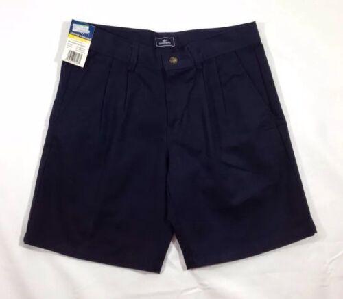 NWT Dockers Boys Navy Blue Pleated School Wear Wrinkle Resistant Shorts