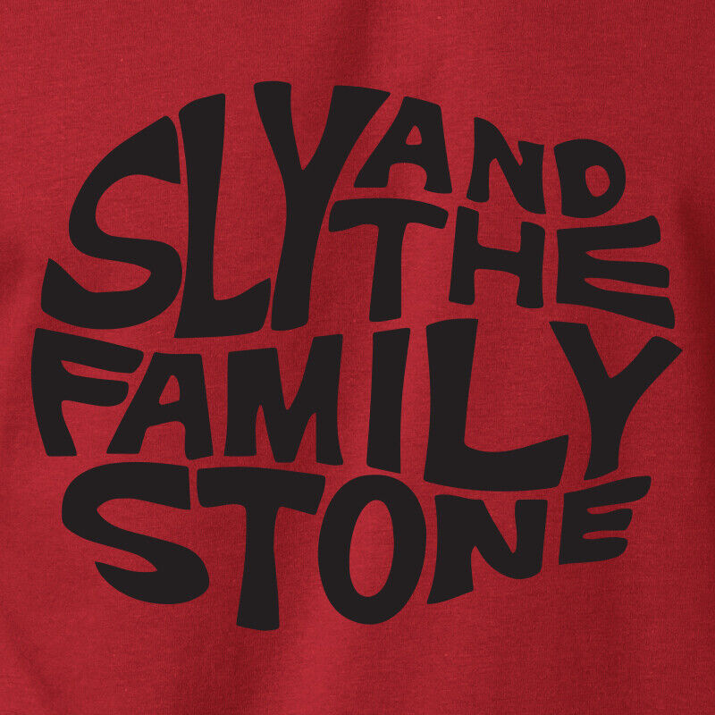 Sly And The Family Stone Logo Black Short Sleeve Cotton T Shirt DD