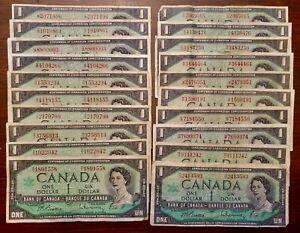 20-X-1967-1-Canada-Centennial-Notes-With-Serial-Circulated
