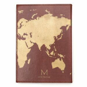 Globetrotter world map 7x5 leather journal brown by matr boomie fair stock photo gumiabroncs Choice Image