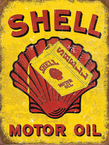 Shell Motor Oil Man Cave Garage Shed Retro Metal Sign