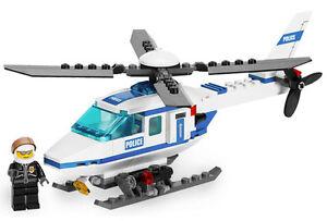 Lego-City-Police-Set-7741-Police-Helicopter-2008-100-Complete-Bricks