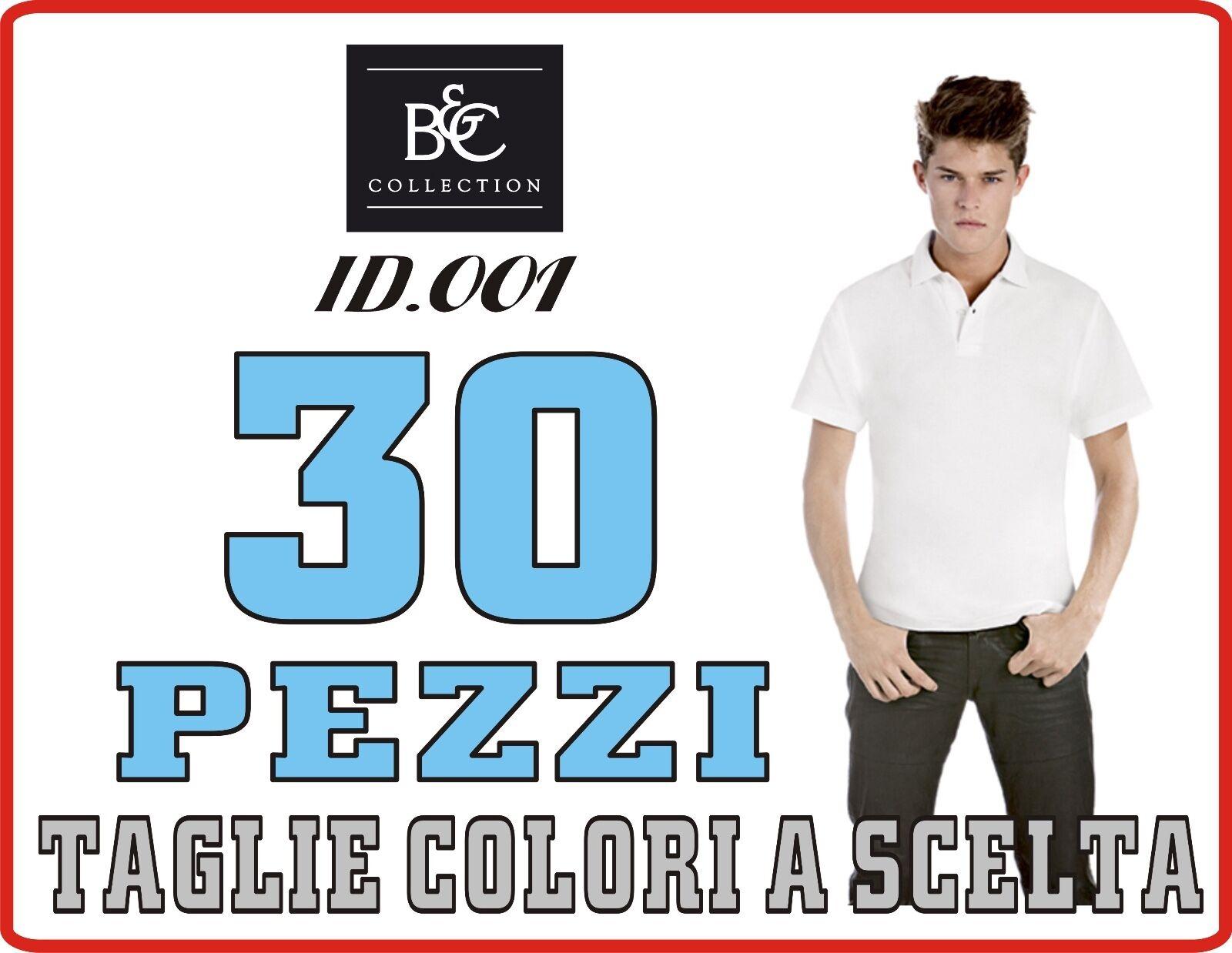 B&C ECONOMICA Polo Cotone ECONOMICA B&C STOCK pezzi 3 a 100 Maglia UOMO Manica Corte 20 COLOR# d52835
