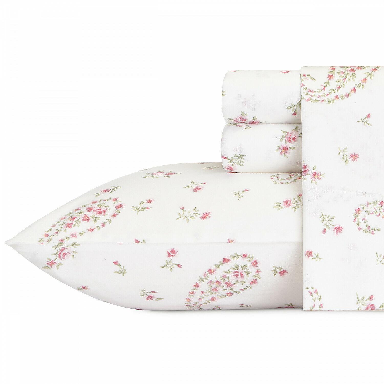 Laura Ashley Bristol Paisley 4-Pc Sheet Set, T300 Sateen Cotton