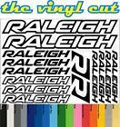 Raleigh Die-cut decal / sticker sheet (cycling, mtb, bmx, road, bike)