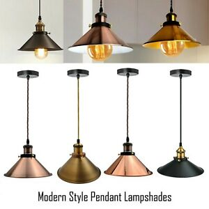 Modern-ceiling-pendant-light-vintage-lamp-shade-E27-3core-Twist-Fabric-Cable
