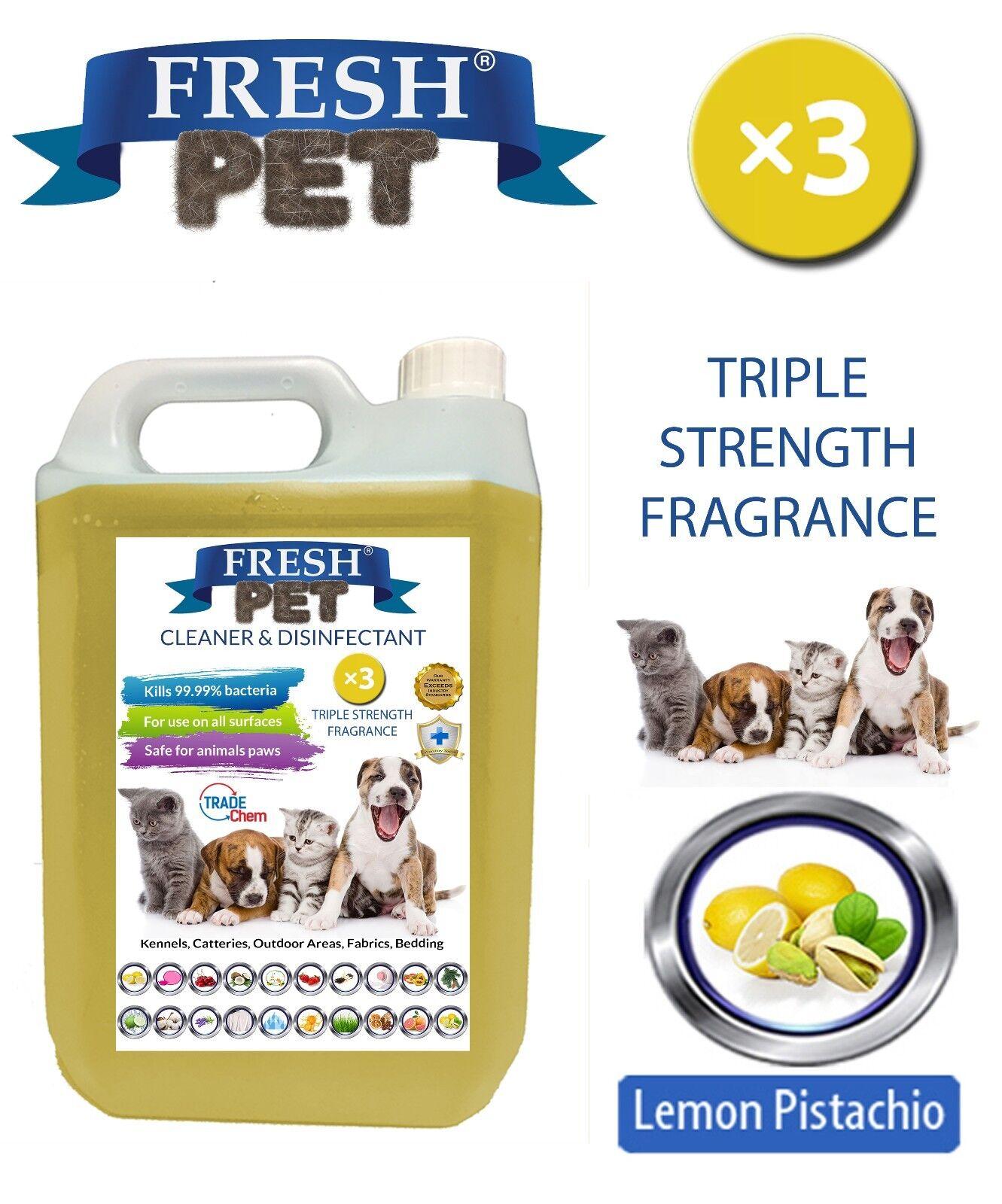 FRESH PET CUCCIA CANE disinfettanti Triple strength profumo - 5l LIMONE