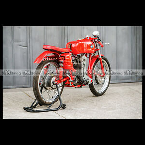 #phm.28865 Photo 1954 MV AGUSTA 125 MONOALBERO CORSA Moto Motorcycle