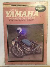 YAMAHA TX500 & XS500 TWINS Clymer Service Repair & Tune Manual 1973-1978