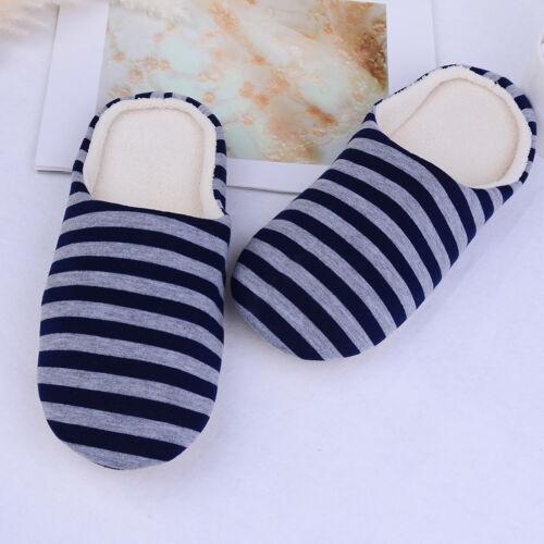 1 Pair women men home indoor anti-slip slippers winter warm^cotton slipper RD
