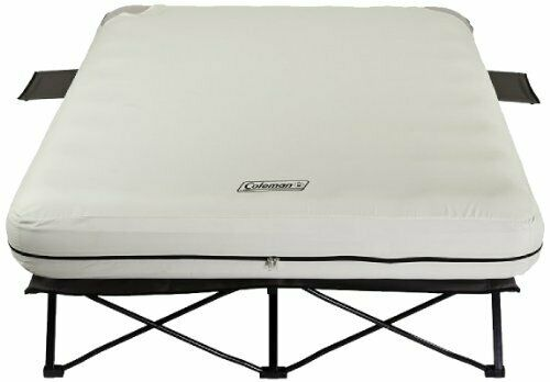 Portable Queen Size Air Bed /& Cot w// Battery-Powered Pump for Camping /& More