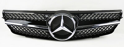 Mercedes CLK Class W209 03-09 1 Fence SLS Front Hood Glossy Black Grill Grille