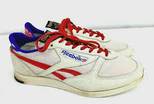 RARE-1983-Reebok-London-Runner-Shoes-Made-in-England-Nylon-Suede-Sz-7-5-Unworn