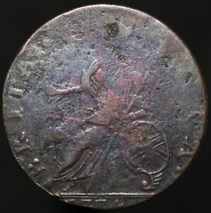 1774-George-III-Half-Penny-Copper-Coins-KM-Coins