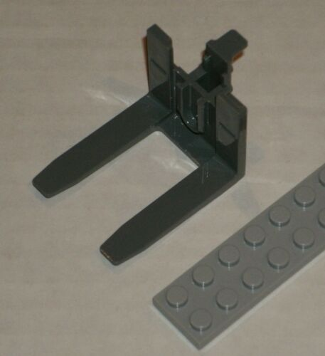 LEGO NEW 4x7 Dark Stone Grey Forklift Forks (1x) 6058407 6035531 Brick 45707