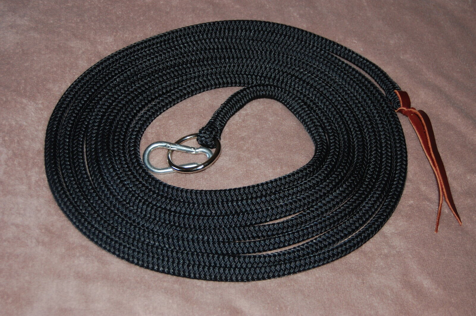 22' LONGE LINE w SS RING & CARABINER, FOR PARELLI TRAINING, MANY AVAIL. COLORS