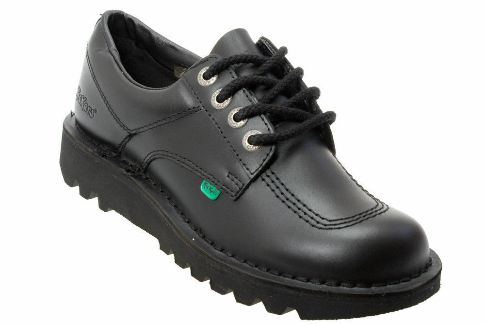 LACE-UP KICKERS KICK LO MENS BLACK LEATHER SHOES