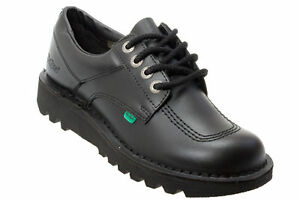 b05026df12209 Image is loading LACE-UP-KICKERS-KICK-LO-MENS-BLACK-LEATHER-