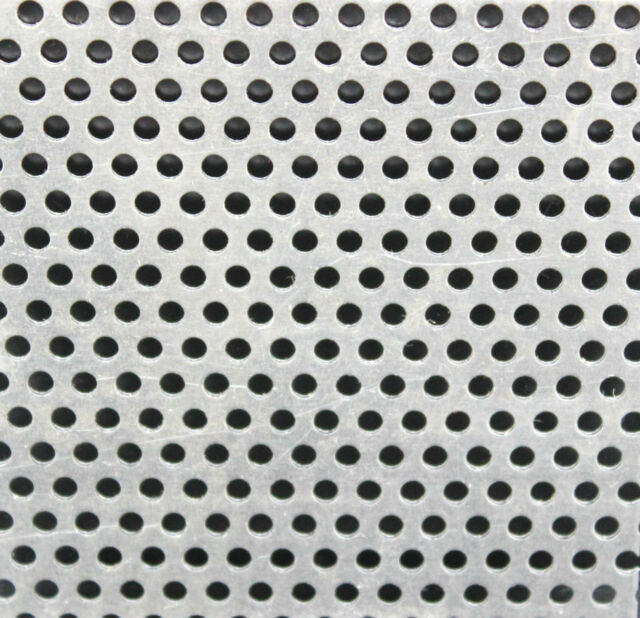 1.0mm Aluminium Perforated Sheet - 9 Popular Sizes - 300 x 300mm To 600 x 400mm
