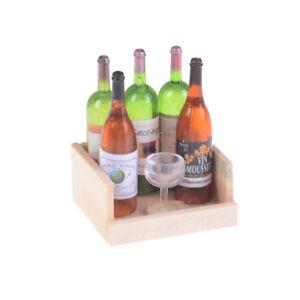 1Set-Wine-Juice-Bottles-With-Cup-Wood-Rack-1-12-Dollhouse-Miniature-Decoration