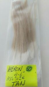 50-HERON-FEATHERS-034-SPEY-034-Tan-Size-4-034-6-034