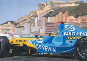 Giclee-2006-Monaco-GP-winner-Renault-R26-1-Fernando-Alonso-by-Toon-Nagtegaal-OE