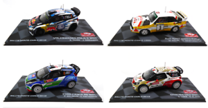 Set of 4 Model Cars 1 43 Rally Monte Carlo WRC - Volkswagen Citroën Ford Audi