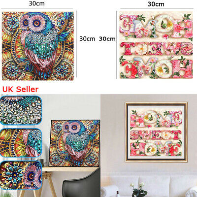 Lovely Owl Family 5D DIY Diamond Painting Cross Stitch Kits House Decoration