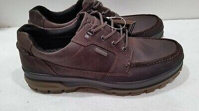 ECCO Men's Rugged Track Gore Tex Mocha Brown Tie Hiking Shoe US 14 14.5 M NEW 809702244497   eBay