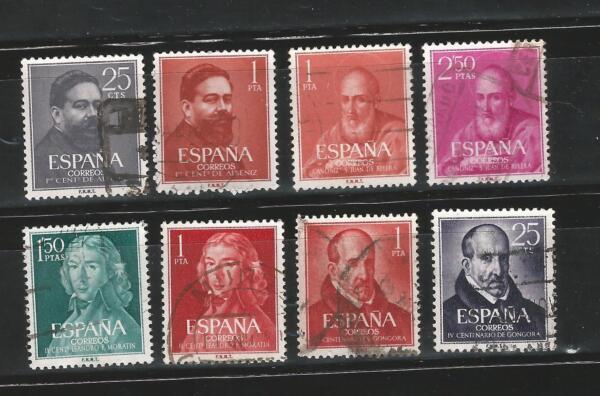 (l034) EspaÑa 1960-61 - 4 Series Personajes - Usado
