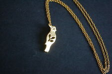gold tone parrot necklace kitsch emo sweet leaf