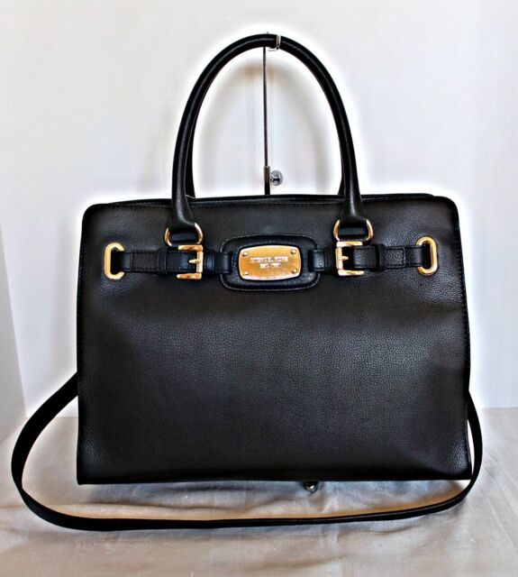 a1e00f564d314d Michael Kors Hamilton Heritage Black Large Leather Tote 35f0ghmt3l ...