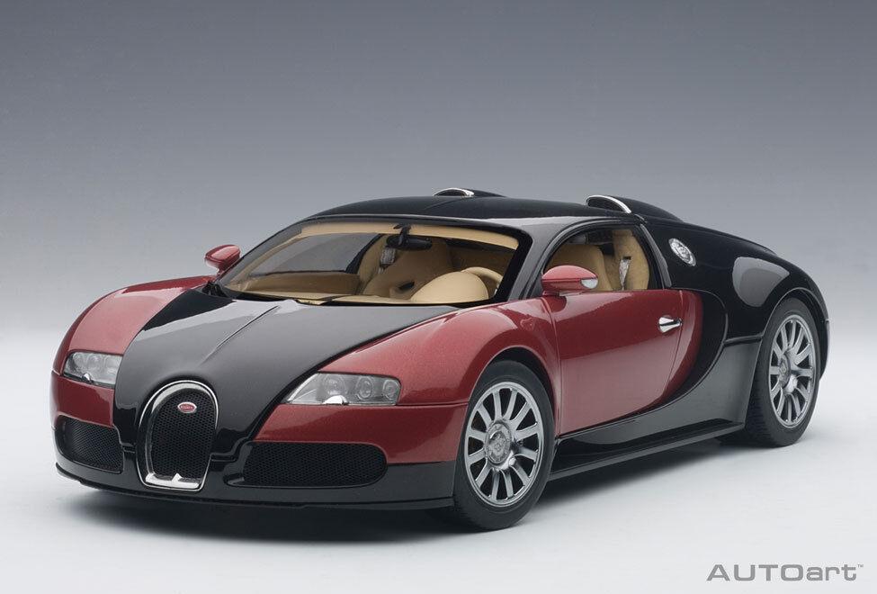 1/18 Autoart Bugatti EB 16.4 VEYRON PRODUCTION car #001 Black/Red Black/Red Black/Red Lmtd.ed.1200st | D'arrivée Nouvelle Arrivée  595ee0