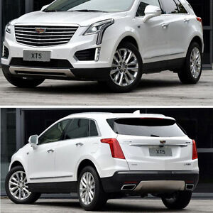 2x stainless front rear bumper protector guard trim for cadillac xt5 2016 2017 ebay. Black Bedroom Furniture Sets. Home Design Ideas