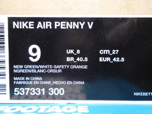 2012 nike air max penny / 5 5 5 miami dolphins blaugrün grün - weiße orange 537331-300 9. 8d5d47