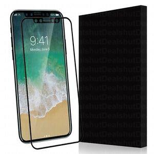 IPhone-x-Hartglas-Displayschutz-2-5D-volle-Kante-zu-Kante-Abdeckung-schwarz