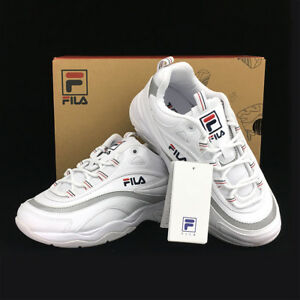 d3dfbf39 Details about New FILA Womens RAY FS1SIA1165X WHITE UNISEX SIZE FILA RAY  HERITAGE TAKSE