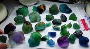 Natural Fluorite Cutting grade and Rough Healing Gemstone Crystals 40 Grams Lot