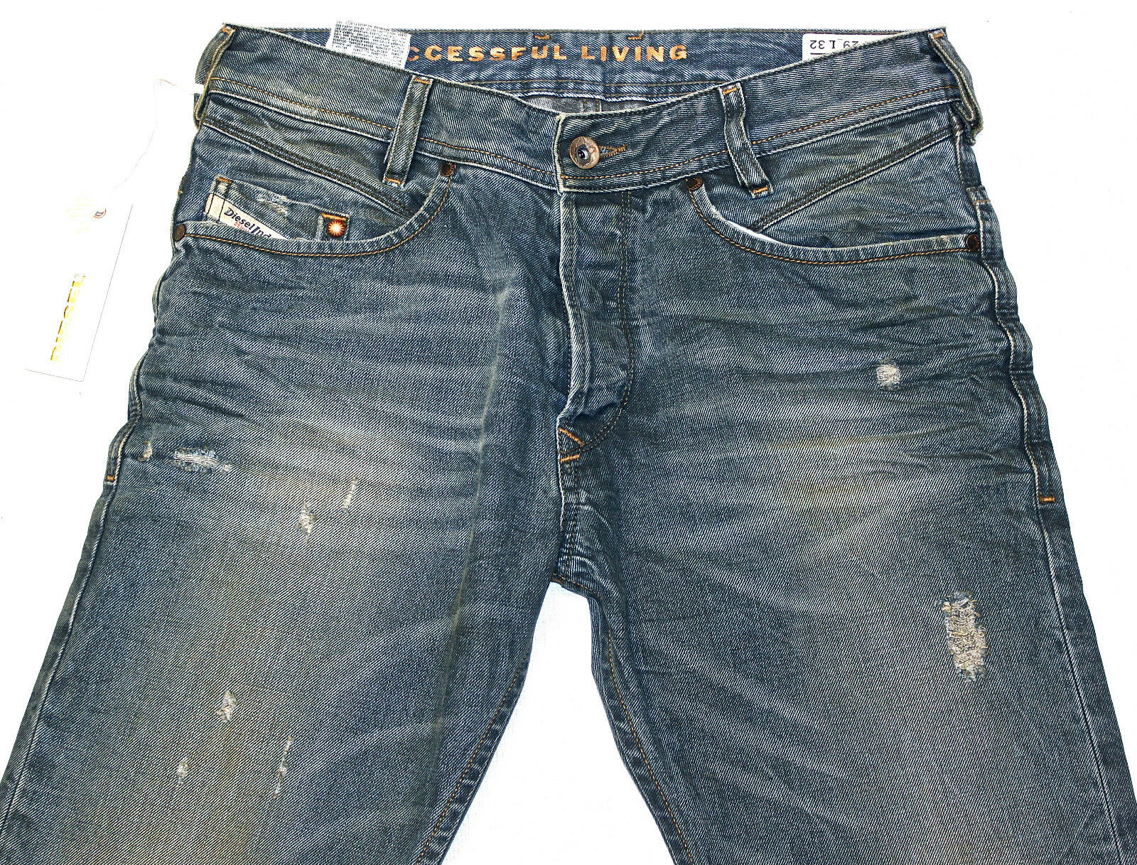 BRAND NEW DIESEL POIAK 885Y JEANS 29X32 0885Y REGULAR SLIM FIT TAPERED LEG
