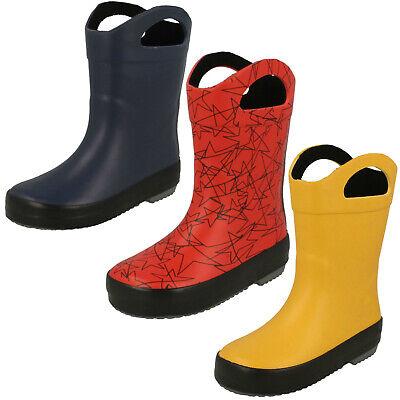 Clarks Tarri Star Girls Handle Reflective Wellington Boots