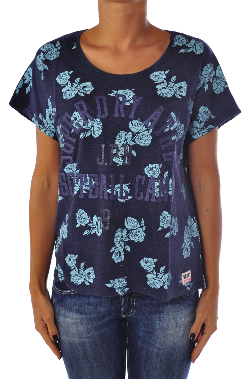 Superdry - Topwear-T-shirts - Woman - Blau - 969318C184038