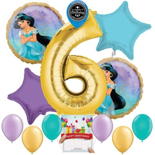 Disney Princess Jasmine Party Supplies Balloon Decoration Bundle 6th Birthday