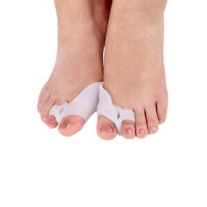 one pair Silicone Gel Bunion Toe Corrector Orthotics Straightener Separator Pain