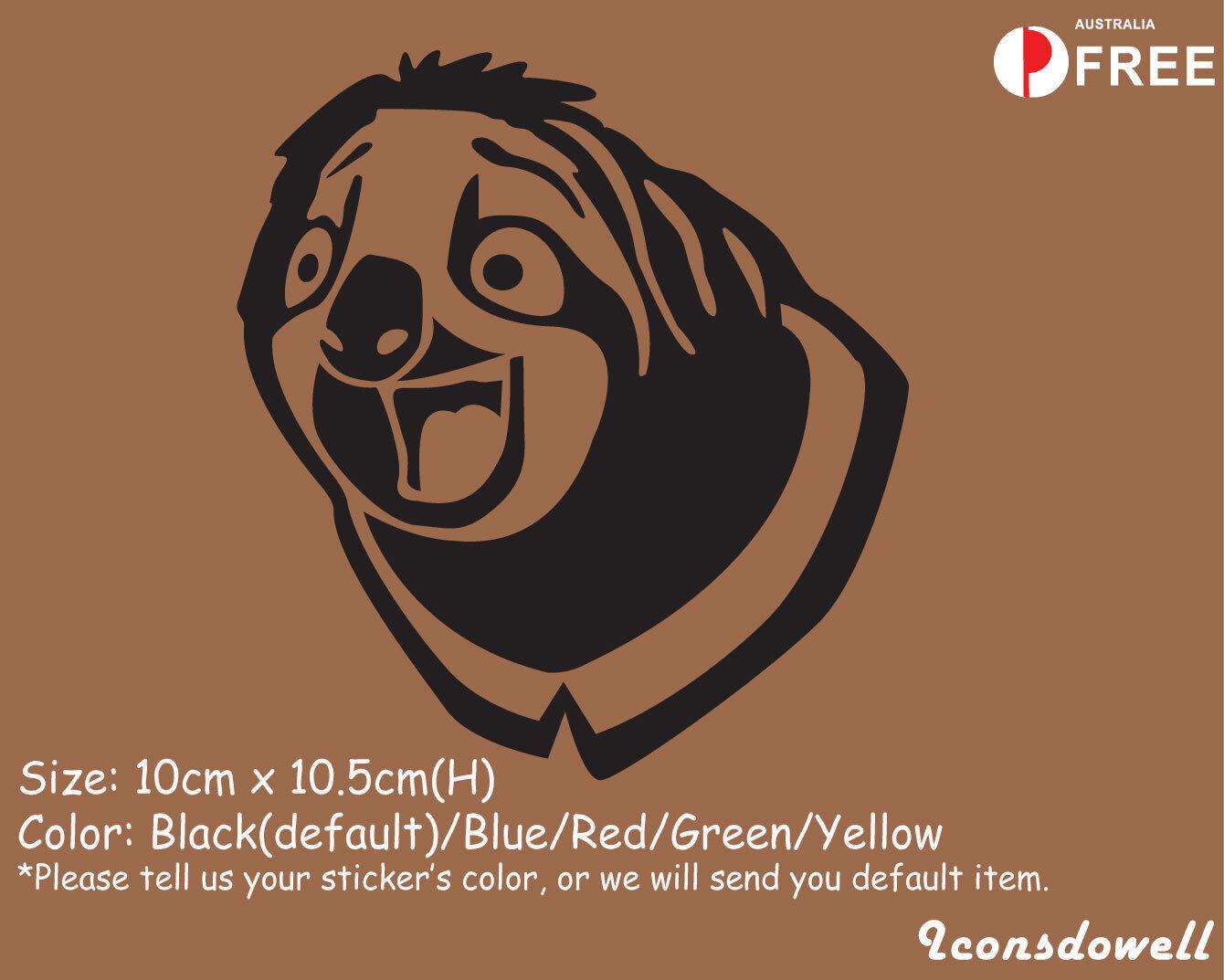 Laptop Graphics window Sticker Decal Decor Best Gift ??Sloth Zootopia Car