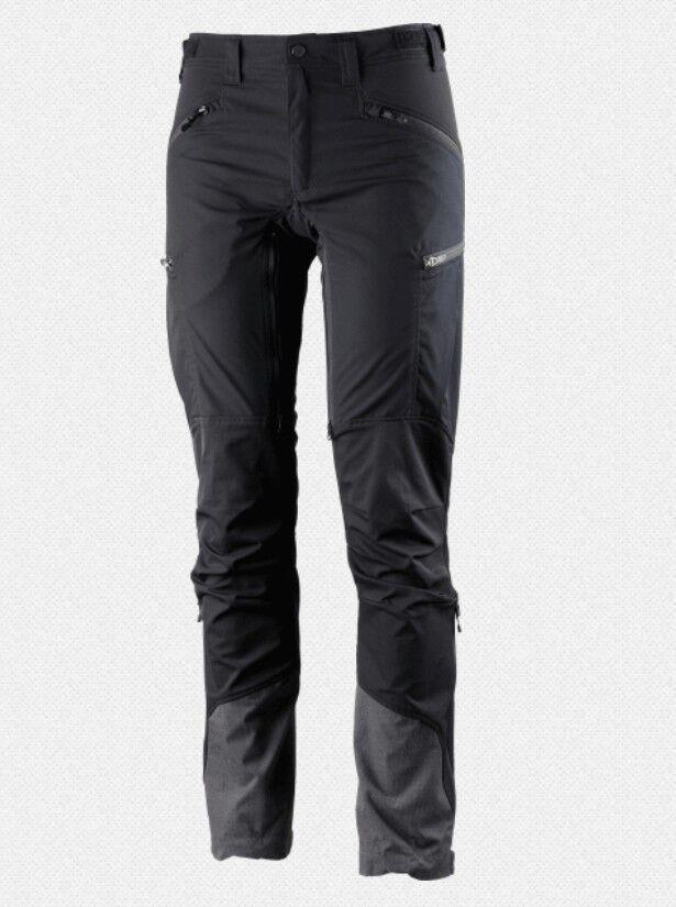 Lundhags Makke Pant damen, Kurzgröße, schwarz, elastische Damen-Trekkinghose