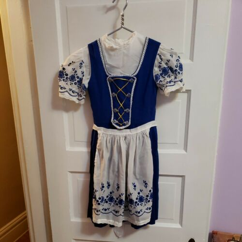 Bavarian German Dirndl Skirt and Blouse Outfit  oc