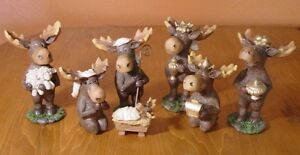 7-PIECE-MOOSE-NATIVITY-SCENE-SET-Faux-Carved-Cabin-Wood-Christmas-Lodge-Decor